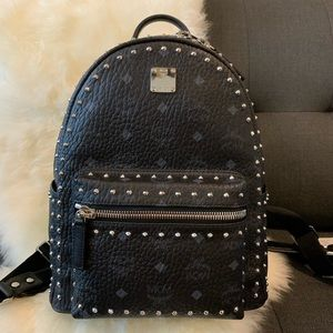 MCM Stark Backpack in Studded Small Size